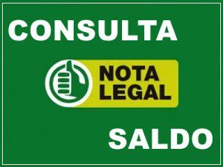 nota legal consulta saldo Nota Legal Consulta Saldo